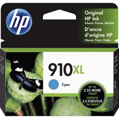 HP 910XL High Yield Cyan Original Ink Cartridge (3YL62AN)