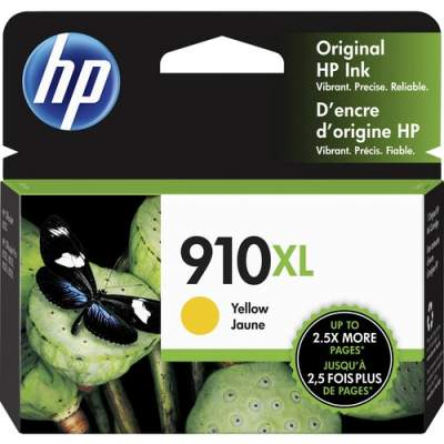 HP 910XL High Yield Yellow Original Ink Cartridge (3YL64AN)