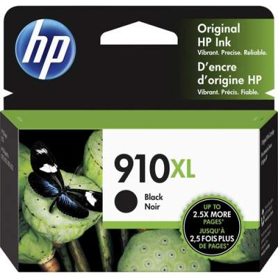 HP 910XL High Yield Black Original Ink Cartridge (3YL65AN)