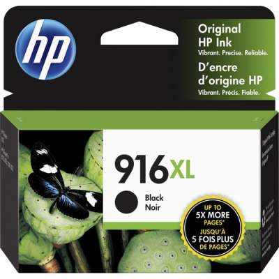 HP 916XL High Yield Black Original Ink Cartridge (3YL66AN)