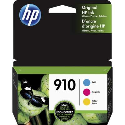 HP 910 3-pack Cyan/Magenta/Yellow Original Ink Cartridges (3YN97AN)