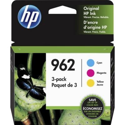 HP 962 3-pack Cyan/Magenta/Yellow Original Ink Cartridges (3YP00AN)