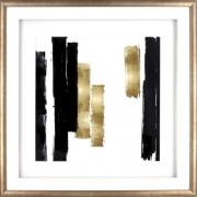 Lorell Blocks Design Framed Abstract Artwork (04477)