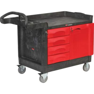 Rubbermaid Commercial TradeMaster Work Utility Cart (453388BLA)
