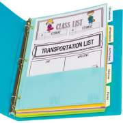C-Line Bright Multi-pocket 5-tab Index Dividers (07650)