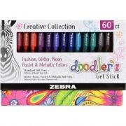 Zebra Pen Doodler'z Gel Stick Pen 1.0mm Assorted 60Pk (41960)