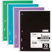 ACCO Mead 1 Subject Wide Ruled Spiral Notebook (72873)