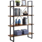 Lorell SOHO 4-Shelf Metal Frame Bookcase (97619)