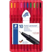Staedtler 10 Triplus Permanent Multi-surface Pens (331SB10)
