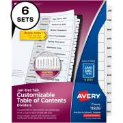 Avery Ready Index Jan-Dec 12 Tab Dividers, Customizable TOC, 6 Sets (11826)