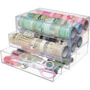 deflecto 3-drawer Transparent Storage Cube (350901CR)
