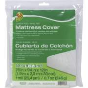 Shurtech Brands Duck Brand Queen/King Mattress Cover - Clear, 76 in. x 94 in. x 12 in. (1140236)