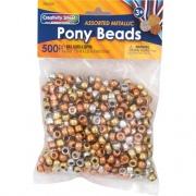 Pacon Metallic Pony Beads (3549)
