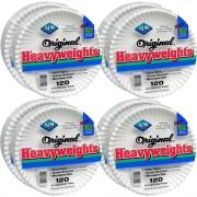 "AJM Packaging AJM Plates, Heavyweight Paper, 9"", 960/CT, White (OH9AJBXWHCT)"