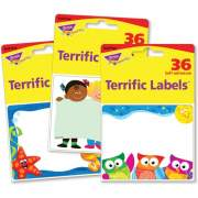 Trend Terrific Labels Friendly Faces Name Tags (68906)