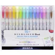 Zebra Pen Mildliner Brush Pen & Marker Set (79115)
