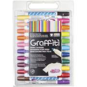 Uchida Yoko Co Marvy Graffiti Fabric Markers (56030A)