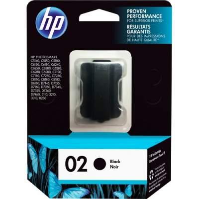 HP 02 Black Original Ink Cartridge (C8721WN)