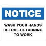 Lorell NOTICE Wash Hands Sign (00251)