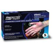 Impact Protected Chef Disposable Powdered Vinyl Gloves (8960S)