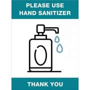 Lorell Please Use Hand Sanitizer Sign (00254)