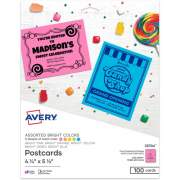 Avery Astrobrights Laser, Inkjet Postcard - 30% Recycled (35704)