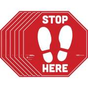 Tabbies BeSafe STOP HERE Messaging Carpet Decals (29202)
