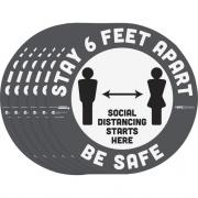 Tabbies BeSafe STAY 6 FEET APART Floor Decals (29201)