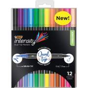 BIC Fineliner 2-in-1 Dual Tip Markers (FPINDP12AST)