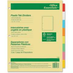 Avery Insertable Dividers, 8 Tab, Multicolor, 1 Set (11467)