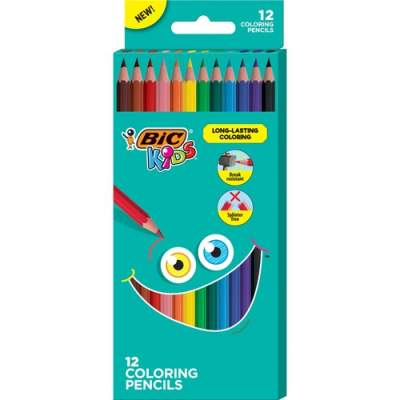 BIC Kids Coloring Pencils (BKCP12AST)