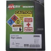 Skilcraft Avery Surface Safe Sign Labels (6878147)