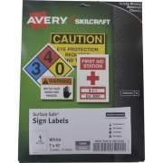 Skilcraft Avery Surface Safe Sign Labels (6878146)