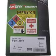 Skilcraft Avery Surface Safe Sign Labels (6878151)