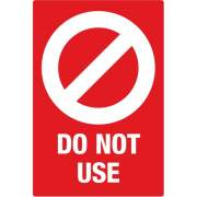Avery Surface Safe DO NOT USE Table & Chair Decals (83078)