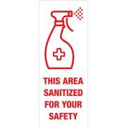 Avery Surface Safe THIS AREA SANITIZED Decals (83080)