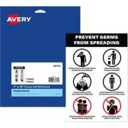 Avery Surface Safe PREVENT GERMS Wall Decals (83174)