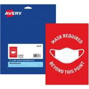 Avery Surface Safe MASK REQUIRED Wall Decals (83177)