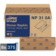 Tork White Dinner Napkin (NP310A)