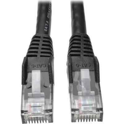Tripp Lite 7ft Cat6 Gigabit Snagless Molded Patch Cable RJ45 M/M Black 7' (N201-007-BK)