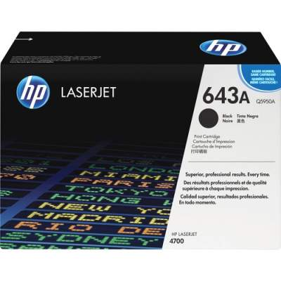 HP 643A Black Original LaserJet Toner Cartridge (Q5950A)