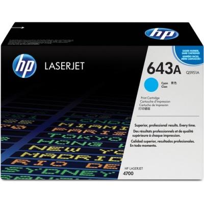 HP 643A Cyan Original LaserJet Toner Cartridge (Q5951A)