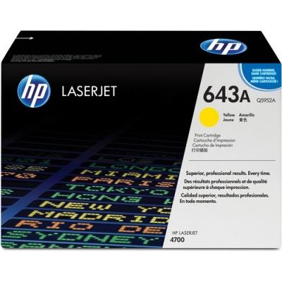 HP 643A Yellow Original LaserJet Toner Cartridge (Q5952A)