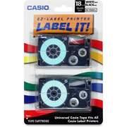 Casio EZ-Label Printer Tape Cartridges (XR18WE2S)