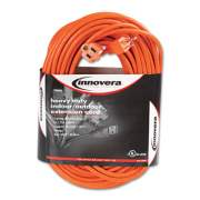 Innovera Indoor/Outdoor Extension Cord, 100ft, Orange (72200)