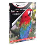 Innovera High-Gloss Photo Paper, 10 mil, 8.5 x 11, High-Gloss White, 50/Pack (IVR99550)