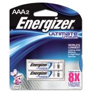 Energizer Ultimate Lithium AAA Batteries, 1.5V, 2/Pack (L92BP2)