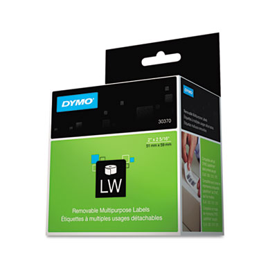 "DYMO LabelWriter Multipurpose Labels, 2"" x 2.31"", White, 250 Labels/Roll (30370)"
