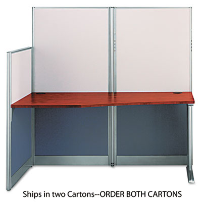 Bush Straight Workstation (Box 2 of 2) Office-in-an-Hour, 64.5w x 32.25d x 63h, Hansen Cherry (WC36492A203)
