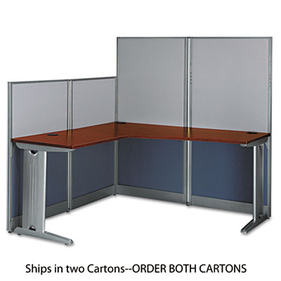 Bush L-Workstation (Box 1 of 2) Office-in-an-Hour, Hansen Cherry (WC36494A103)